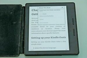 Amazon Kindle Oasis 4GB with Leather Cover