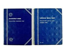 Whitman Coin Folders #9004 LINCOLN HEAD CENT No. 1 and #9029 ROOSEVELT DIME