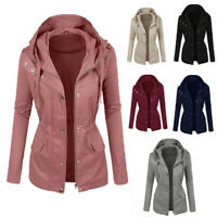 6Colour New Womens Fashion Jacket Hooded Long Sleeve  Jacket Coat Outdoor New