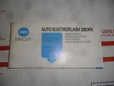 MINOLTA AUTO ELECTROFLASH 280PX MANUAL GUIDE