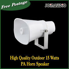 High Quality Outdoor 15 Watts PA Horn Speaker 100V Ivory Church/School/Hall