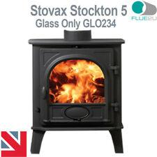 Stovax Stockton 5, Stove Glass GLO234 Direct Replacment Heat Resistant Glass