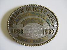 1980 Prescott Arizona Frontier Days western rodeo championship belt buckle