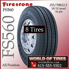 Firestone Semi Tires FS560 255 70r22.5 8 Tires $368 Each FREE SHIPPING