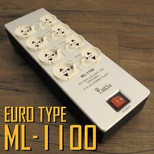 YAQIN ML-1100 EUR 8way Hi-End EURO TYPE Power Filter Socket Conditioner Block US