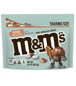 NEW M&M's Orange Vanilla Creme 9 oz Bag Sharing Size Limited Edition Exp 12/21.