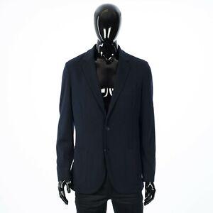 LORO PIANA 2750$ Sweater Blazer Jacket In Navy Blue Virgin Wish Wool