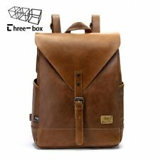 Stylish Brown Fashion Travel School Backpack for Men and Women