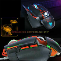 NEW V9 Adjustable wired Gaming Mouse RGB LED Backlight 8 buttons 3200 DPI Mice
