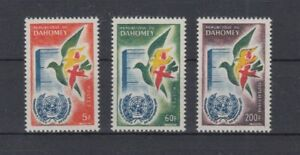 Dahomey 187 - 89 Recording IN The Un (MNH)