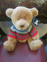 COLLECTABLE HOUSE OF FRASER RUSS TEDDY 2006 WEARING STRIPEY JUMPER.