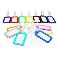 10 Travel Luggage Bag Tag Plastic Suitcase Baggage Office Name Address ID P3B4