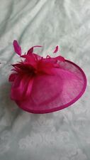 Fuchsia pink fascinator with headband - Occasion Wedding Races