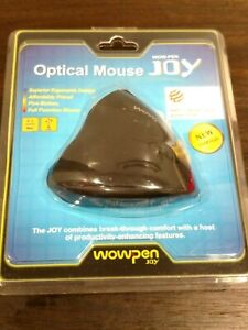 WOWPEN JOY ERGONOMIC OPTICAL MOUSE WOW-PEN JOY MODEL WP012 BRAND NEW