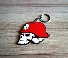 Metal Mulisha Keychain Red Key ring Rubber Motorcycle Racing Collectible Gift