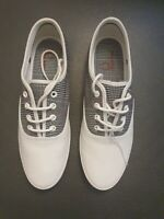 Fred Perry Coxon Leather White/black Size UK8