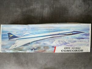 1966 VINTAGE RED STRIPE AIRFIX MODEL KIT 1/144 SCALE CONCORDE SERIES 5  B.O.A.C.
