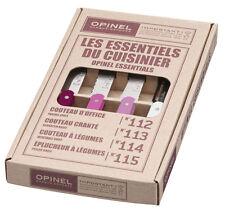 Opinel Kitchen 4 Small Set Les Essentials Paring Knives Primavera 1736 NEW