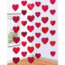 6 x 7ft Heart Strings Wedding Valentines Day Hanging Party Decoration 678407