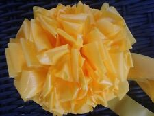 "TIE A YELLOW RIBBON BOW ~ ONE LARGE 6"" DARK YELLOW BOW ~ OUTDOOR"