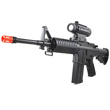 M4 A1 M16 ELECTRIC FULLY AUTOMATIC AIRSOFT RIFLE GUN AEG w/ SCOPE 6mm BB BBs