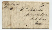 1847 Pemberton NJ manuscript stampless foled letter [5246.432]