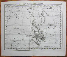 Flamsteed Astronomy Original Celestial Map Auriga - 1776