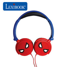 Lexibook Kids Spiderman Foldable Stereo On Ear Headphones with Volume Limiter