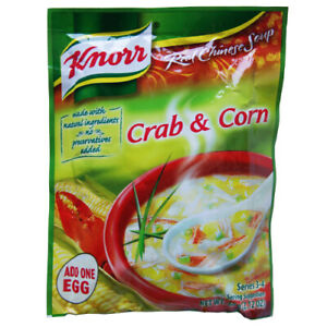 KNORR CHINESE CRAB & CORN PACKET SOUP