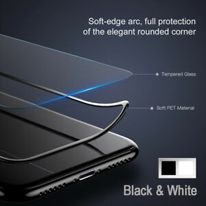 SOINEED 3D Full Cover Tempered Glass Screen Protector for iPhone X 8 7 6s Plus