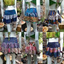 Gypsy patchwork mini Rara Skirt Hippy Boho Festival