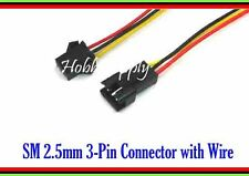 3 SET SM 3-Pin 2.5mm Male Female Housing Connector Adapter Color lead wire 300mm