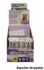 Présentoir 30 Pipettes Chiens <15 Kg Anti Puces, Tiques et les poux PIRETRON 1ml