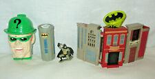 Batman MicroVerse Gotham City Micro Playset & Riddler Mini Set & BAT-SIGNAL