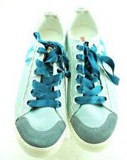 TRUE RELIGION Light Teal Canvas Sneakers Women's Size 9.5 EUC