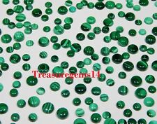 150 Crt WHOLESALE LOT NATURAL GREEN MALACHITE CALIBRATED ROUND CABOCHON GEMSTONE