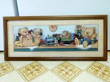 Ruane Manning Teddy Bear Print Framed Nursery Stuffed Animals Toys