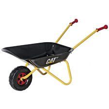Rolly Toys Metallschubkarre CAT Kinder ab 3 Jahre, Sand und Garten, schwarz-gelb