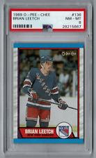 Brian Leetch 1989-90 O-Pee-Chee OPC Rookie Card! New York Rangers! PSA 8 NM MT!
