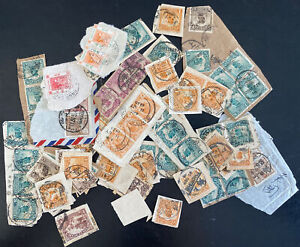 China And Singapore Malaya Pieces Stamps Collection Lot