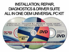 3 DISC RE-INSTALL/REPAIR/RECOVER WINDOWS 8.1 ALL VERSION, WITH UTILITY/DRIVERS