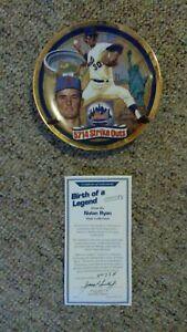 Hall of Famer Nolan Ryan Mets collector plate