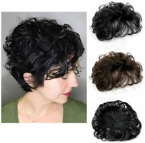 Fluffy Crown Hair Pieces Clip in Hairpiece Wavy Hair Topper Wiglets for Women