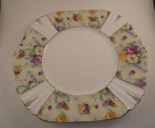 Royal Albert Bone China Salad Plate Floral Panels Scalloped