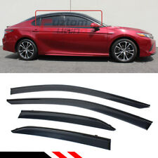 FOR 2018-2020 TOYOTA CAMRY CLIP-ON BLACK TRIM WINDOW VISOR RAIN GUARD DEFLECTOR