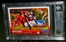 BGS AUTHENTIC AUTO 2015 Topps MIKE TROUT Signed Baseball Card AUTOGRAPH #510