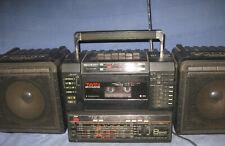SHARP WF-T738 TWIN Stereo-Radio-Kassettenrecorder Ghettoblaster BOOMBOX 6-BAND