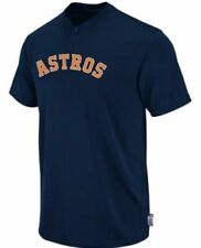 Majestic Two-Button Houston Astros Replica Youth Cool Base Jersey SZ YLG (R28)