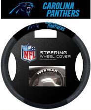 Carolina Panthers Steering Wheel Cover NFL Football Team Logo Poly Mesh
