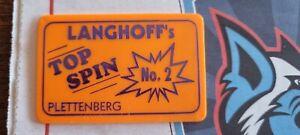 Kirmes Fahrchip Top Spin Langhoff